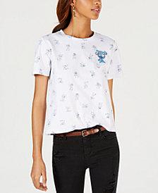 Modern Lux Juniors' Cotton Stitch Graphic-Print T-Shirt