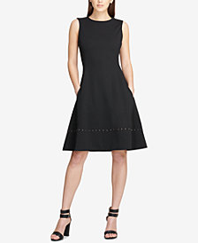 DKNY Studded Fit & Flare Dress, Created for Macy's