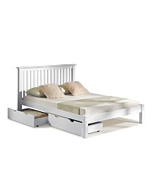 Alaterre Furniture Barcelona Queen Bed with Storage Drawers