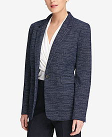 DKNY Knit One-Button Jacket, Created for Macy's