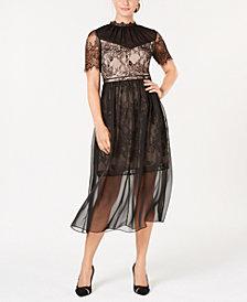 Aves Les Filles Lace Chiffon Dress