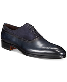 Massimo Emporio Men's Mixed Water Resistant Brogue Oxfords, Created for Macy's