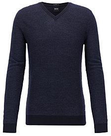 BOSS Men's Slim-Fit Merino Wool Sweater