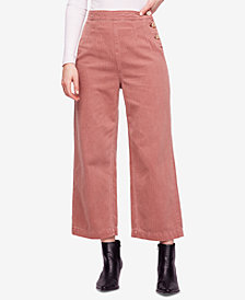 Free People Clean Mod Utility Cropped Cotton Pants
