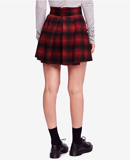 0cbabc38a340 Free People High-Waist Pleated Plaid Mini Skirt   Reviews - Skirts ...