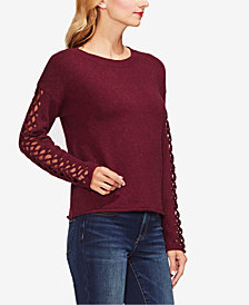 Vince Camuto Lattice-Sleeve Sweater