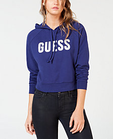 GUESS Metallic Logo Hoodie
