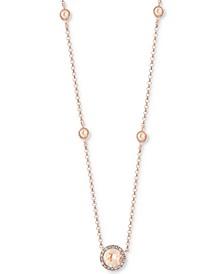 "EFFY® Morganite (3/4 ct. t.w.) & Diamond (1/3 ct. t.w.) 18"" Pendant Necklace in 14k Rose Gold"