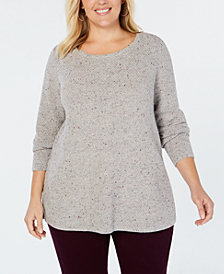 Charter Club Plus Size Textured Tunic Top, Created for Macy's