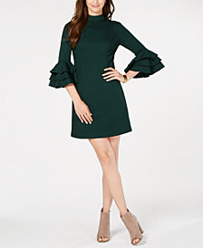 Trina Turk Ruffled Bell-Sleeve Dress