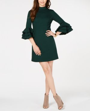 Trina Turk Ruffled Bell-Sleeve Dress 6951958