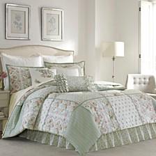 Queen Harper Green Comforter Set