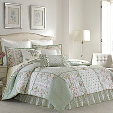 Laura Ashley Queen Harper Green Comforter Set