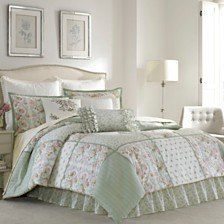 Laura Ashley Full Harper Green Comforter Set