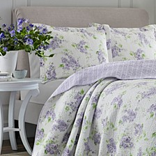 Full/Queen Keighley Pastel Purple Quilt Set