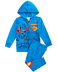 DC Comics Toddler Boys 2-Pc. Superman Hoodie & Pants Set