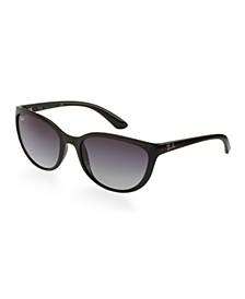 Unisex Low Bridge Fit Sunglasses, Erika Classic 57