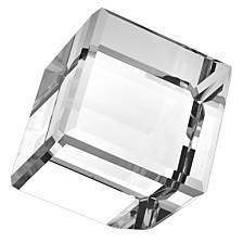 Badash Crystal Cube On Corner Art Glass Sculpture