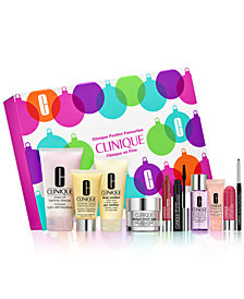 Clinique Festive Favourites Set, only $49.50 with any $29.50 Clinique purchase! (a $198 value!)