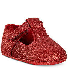 First Impressions Baby Girls Metallic Glitter Ballet Flats, Created for Macy's