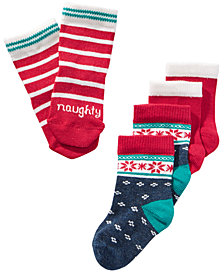 First Impressions Baby Boys & Girls 3-Pk. Holiday Socks, Created for Macy's