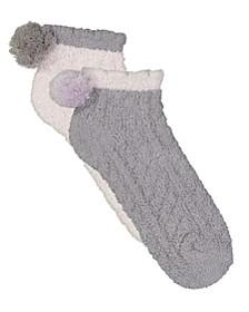 Women's 2 Pack Cable Foam Socks