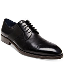 Steve Madden Men's Comeback Cap-Toe Leather Oxfords