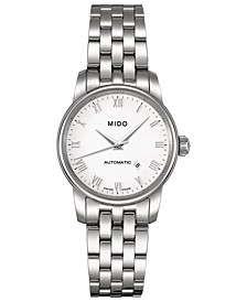 Women's Swiss Automatic Baroncelli Stainless Steel Bracelet Watch 29mm