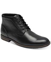 71862789ed73 Rockport Men s Dustyn Waterproof Leather Chukkas
