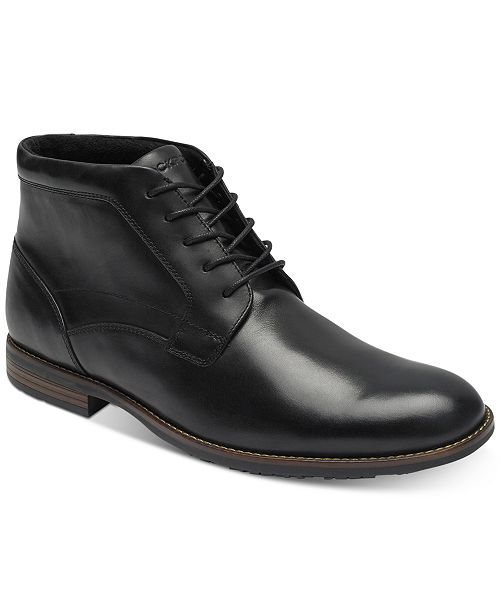 d2282979a707 Rockport Men s Dustyn Waterproof Leather Chukkas   Reviews - All ...