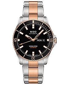 Mido Men's Swiss Automatic Ocean Star Captain V Two-Tone Stainless Steel Bracelet Watch 42.5mm
