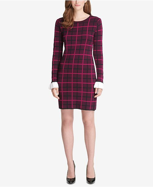 bf7feddc7ef Tommy Hilfiger Peplum-Sleeve Sweater Dress   Reviews - Dresses ...