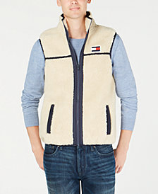 Tommy Hilfiger Men's Expedition Full-Zip Sherpa Fleece Vest, Created for Macy's