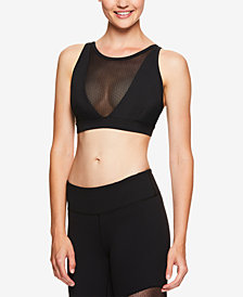 Gaiam by Jessica Biel High-Neckline Mesh-Inset Low-Impact Sports Bra