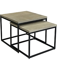 Drey Square Nesting Coffee Tables Set Of Two