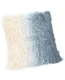 Lamb Fur Pillow Light Deep Blue Spectrum