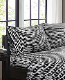 Intelligent Design Chevron 4-PC Queen Microfiber Sheet Set