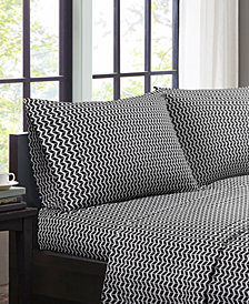 Intelligent Design Chevron 4-PC Full Microfiber Sheet Set