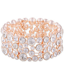 GUESS Crystal & Stone Stretch Bracelet