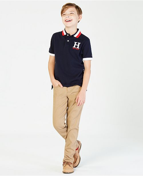 63c5a877 Tommy Hilfiger Big Boys Matt Polo & Reviews - Shirts & Tees - Kids ...