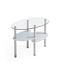 Tempered Oval Glass Coffee Table