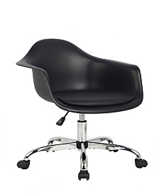 Arm Bucket Seat Office chair in Black