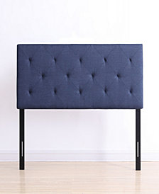 Queen-Size Upholstered Tufted Rectangular Headboard