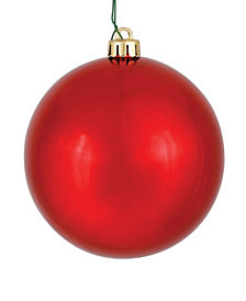 "4"" Red Shiny Ball Christmas Ornament, 6 per Bag"