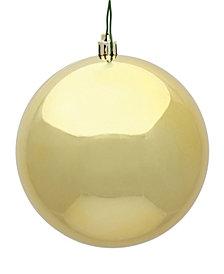 "4.75"" Gold Shiny Ball Christmas Ornament, 4 per Bag"