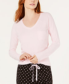 Jenni Ribbed Pajama Top, Created for Macy's