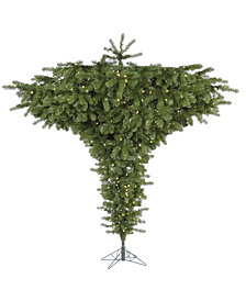 Vickerman 7.5' Upside Down Artificial Christmas Tree with 650 Warm White LED Lights