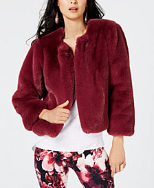 Thalia Sodi Faux-Fur Jacket, Created for Macy's