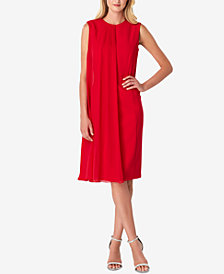 Tahari ASL Chiffon-Overlay Sheath Dress