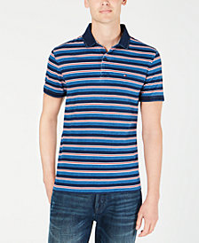 Tommy Hilfiger Men's Custom Fit Bedford Striped Polo